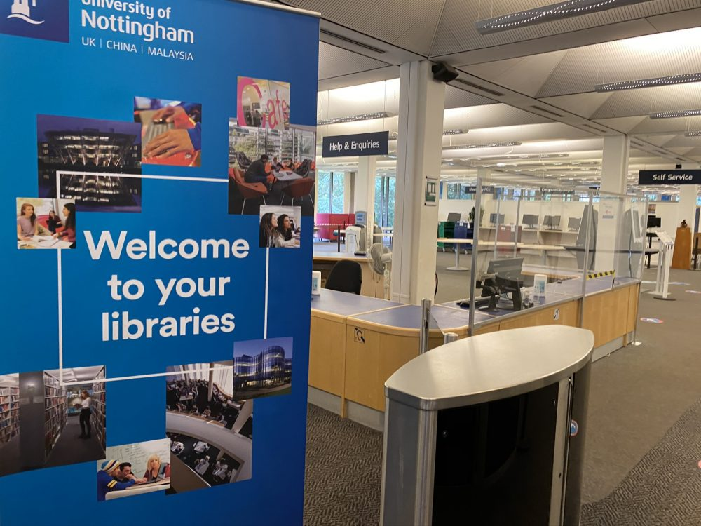 Inside Hallward Library