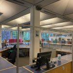 Safety screen at Hallward Library