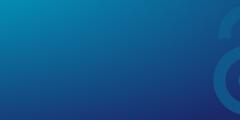 Padlock on blue background