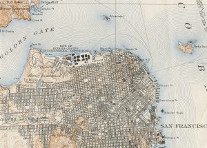 1914 Map of San Francisco, USA