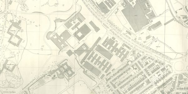 1967 map of University Park, Nottingham