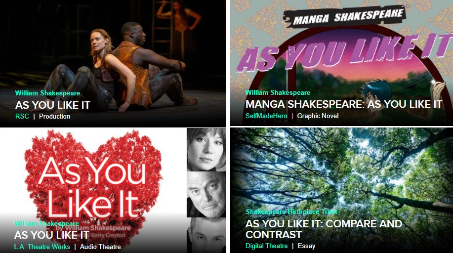 Productions available on Digital Theatre+