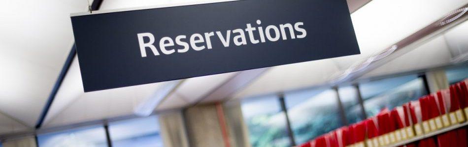Reservations shelves