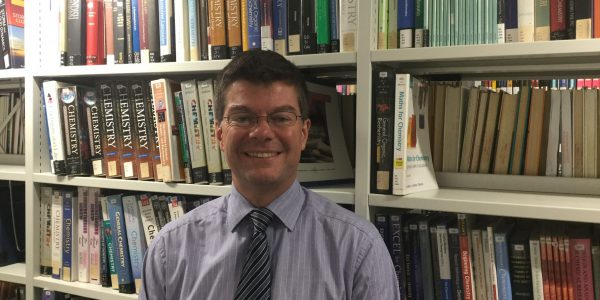 Senior Research Librarian, Tony Simmonds in George Green Library
