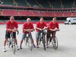 Support Team at the Millennium Stadium