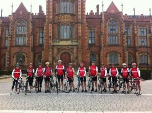 The LC3 team set off from Belfast