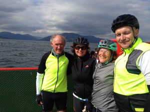 David, Svenja, Susan and Nick on the ferry