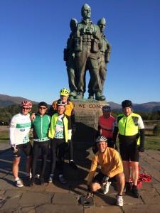 LC4 riders at the Commando Memorial