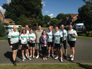 LC4 riders with Kirsty and Tim Lee