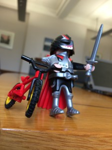 Pic 6 - A knight with red bike