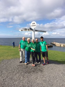 Support Team at John O'Groats