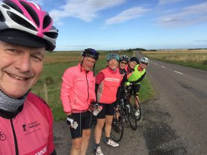 The team at 1,300 miles on Life Cycle 6