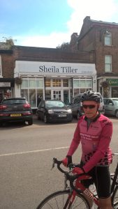 Vice Chancellor outside Sheila Tiller tearoom