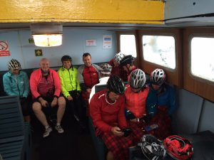 Pic 3 - staying dry on the ferry