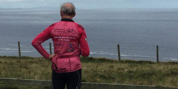 Professor Sir David Greenaway at the end of the Life Cycle 6 endurance ride