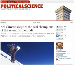 Are climate sceptics the real champions?