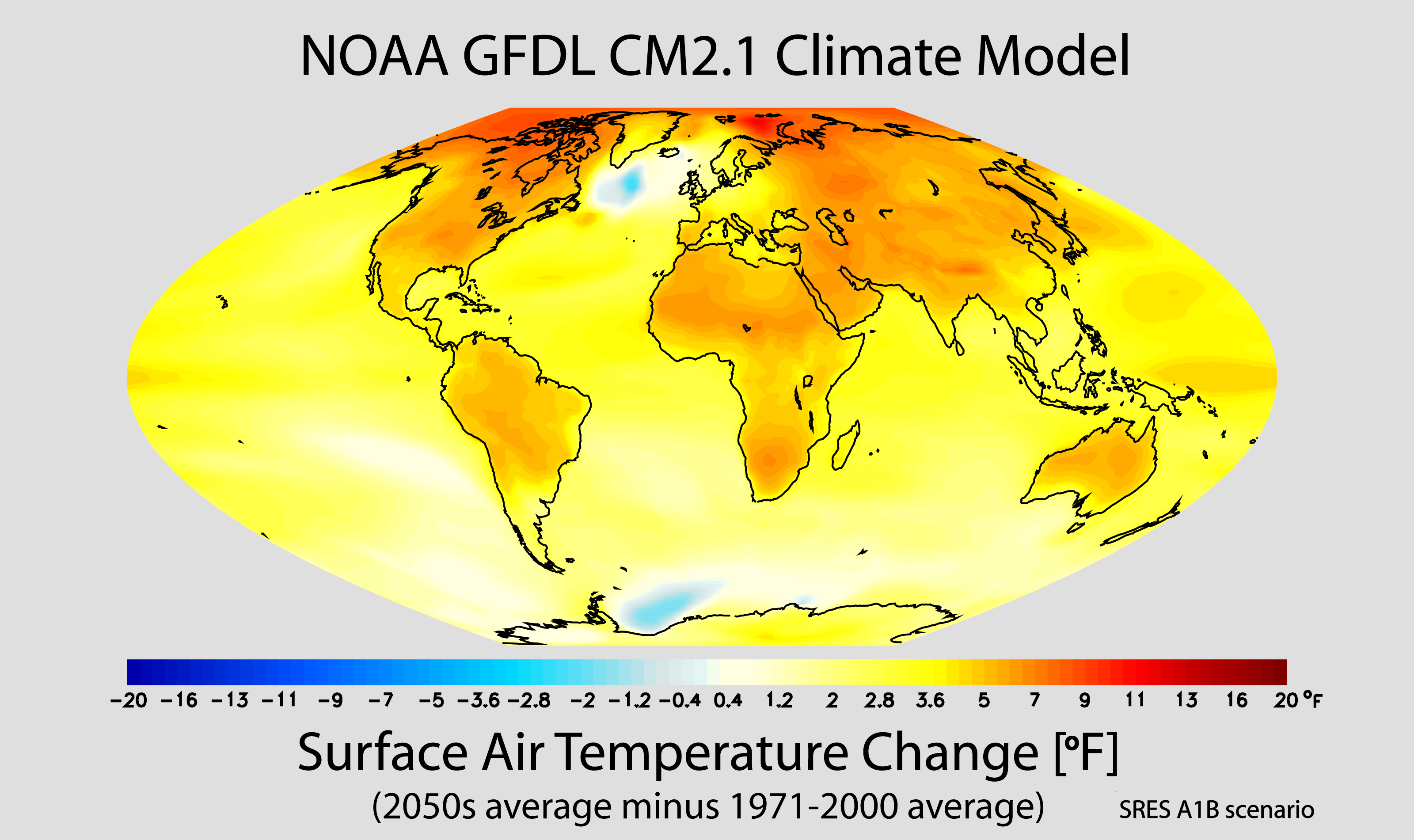 Projected_change_in_annual_mean_surface_air_temperature_from_the_late_20th_century_to_the_middle_21st_century,_based_on_SRES_emissions_scenario_A1B