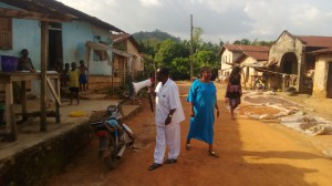Primary health workers in Oboto, Nigeria have a hard time persuading clients to visit their recently improved health centre. (Photograph: Temilade Sesan)