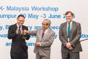 Officiating the workshop by Emeritus Professor Dato' Dr Mohamed Mahyuddin Mohd Dahan FASc, Honorary Treasurer of the Academy of Sciences Malaysia (ASM) together with Prof Denny Ng and Prof Richard Murphy