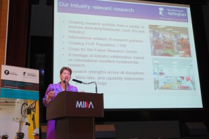 Professor Christine Ennew, during her presentation in introducing the research capabilities of UNMC