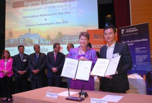 Professor Christine Ennew, and Mr Nicklaus Ho Chu Wei, CEO of Gaharu Technologies Sdn Bhd