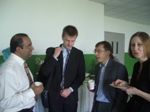 (left to right) Professor Edmund Terence Gomez (Dean, Social and Behavioural Science Research Cluster (Universiti Malaya), Dr Matthew Humphrey (HoS, Politics and International Relations), Professor Neville Wylie (Dean of the Faculty of Arts and Social Sciences), Professor Maiken Umbach (HoS, Department of History)