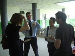Sean Matthews (second from left), telling it how it is.