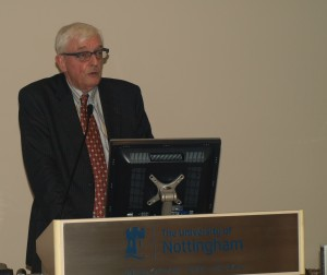 Professor Edgard Van de Velde, presenting his book (The Road to Political Democracy: From Plato to the Charter of Fundamental Rights of the European Union) at a MYEULINK and the Belgian Embassy