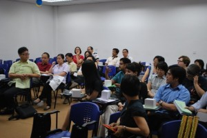 Participants engaging in the Q&A session