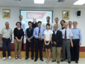 Alireza (front, 3rd from left) with participants and organiser of the IMechE South East Asia SOfE competition, Bangkok, Thailand