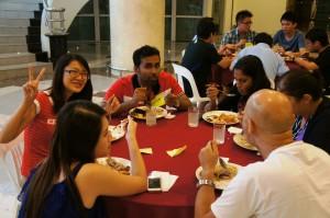 Socialising over dinner