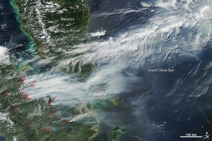 Image captured by Moderate Resolution Imaging Spectroradiometer (MODIS) from NASA's Aqua satellite on the afternoon of June 19, 2013. The red spots mark areas where the thermal sensors on the MODIS instrument have detected temperatures higher than background. Source: http://earthobservatory.nasa.gov/IOTD/view.php?id=81431