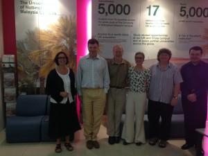 Left to right: Sarah Hibberd, Paul Loughna, Simon McGrath, Kim Thomas, Michele Clark and Andrei Khlobystov