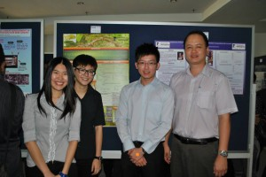 From left: Khoo Phey Yeong, Lim Gaik Lin, Koh Ming Wee and Dr Hii Ching Lik (Supervisor)