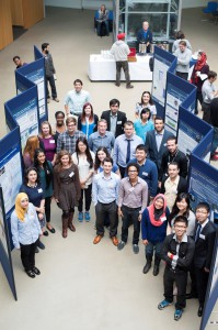 Wilson Ho Wei Sheng (first right in front) with some other participants at the UK Engineering Research Showcase 2014