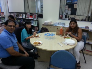 Lunch session with interns and supervisors