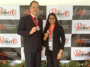 From left: Dr Hii Ching Lik (Adsorption dryer project) and Dr Vasanthi Sethu (Fenugreek project)