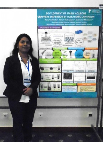 Renu with her prize winning poster.