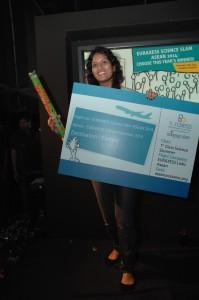 EURAXESS Science Slam ASEAN 2014 Champion Bhamini Bhujun.