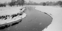 River Idle in Nottinghamshire in the snow, 1963
