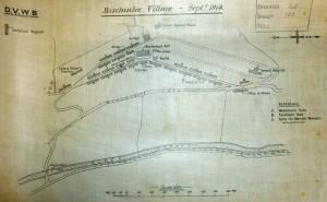 Plan of tin town at Birchinlee