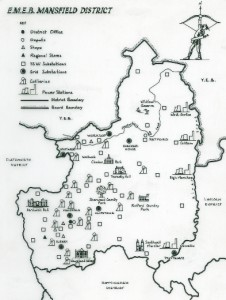 Plan of the East Midlands Electricity Board Mansfield district (BEE 4/5)
