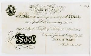 Bank of Folly, 1847, My 2484-1-3