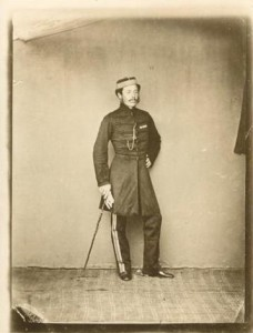 Photograph of Edward M. Wrench in Uniform of 12th Royal Lancers, 1862