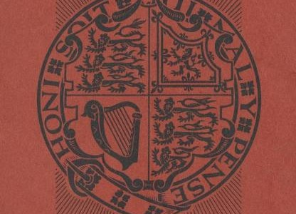 Form, Order of Service and Music for the Coronation of Queen Elizabeth II; 1953. Front Cover.