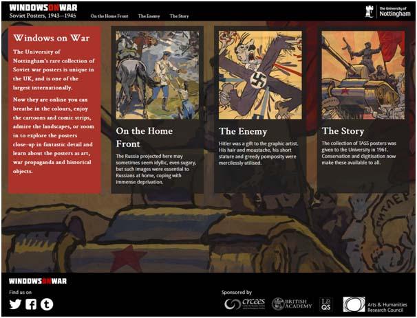 Windows on War website