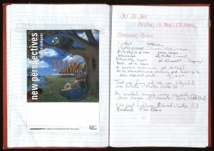 Comment Book from the Christmas pantomime of 'Toad of Toad Hall', 1999-2000 (Ref: NPT 2/89/8)