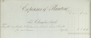 Extract from the account book for Clumber Park, 1838 (Ref: Ne 3 A 32)