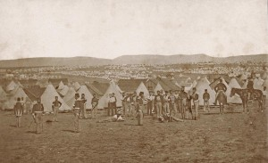 Camp of the 97th Regiment in front of Sevastopol, Ukraine, by James Robertson or Felice Beato, c. Sep 1855 (Ref: Ne C 10884/2/13)
