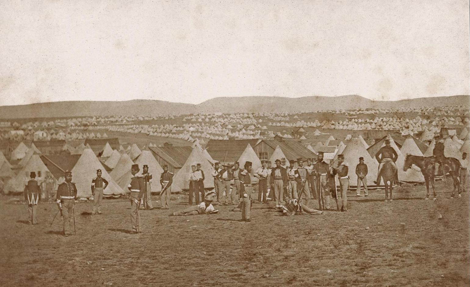 Camp of the 97th Regiment in front of Sevastopol [Ukraine], by James Robertson or Felice Beato, c. Sep 1855 (Ref: Ne C 10884/2/13)